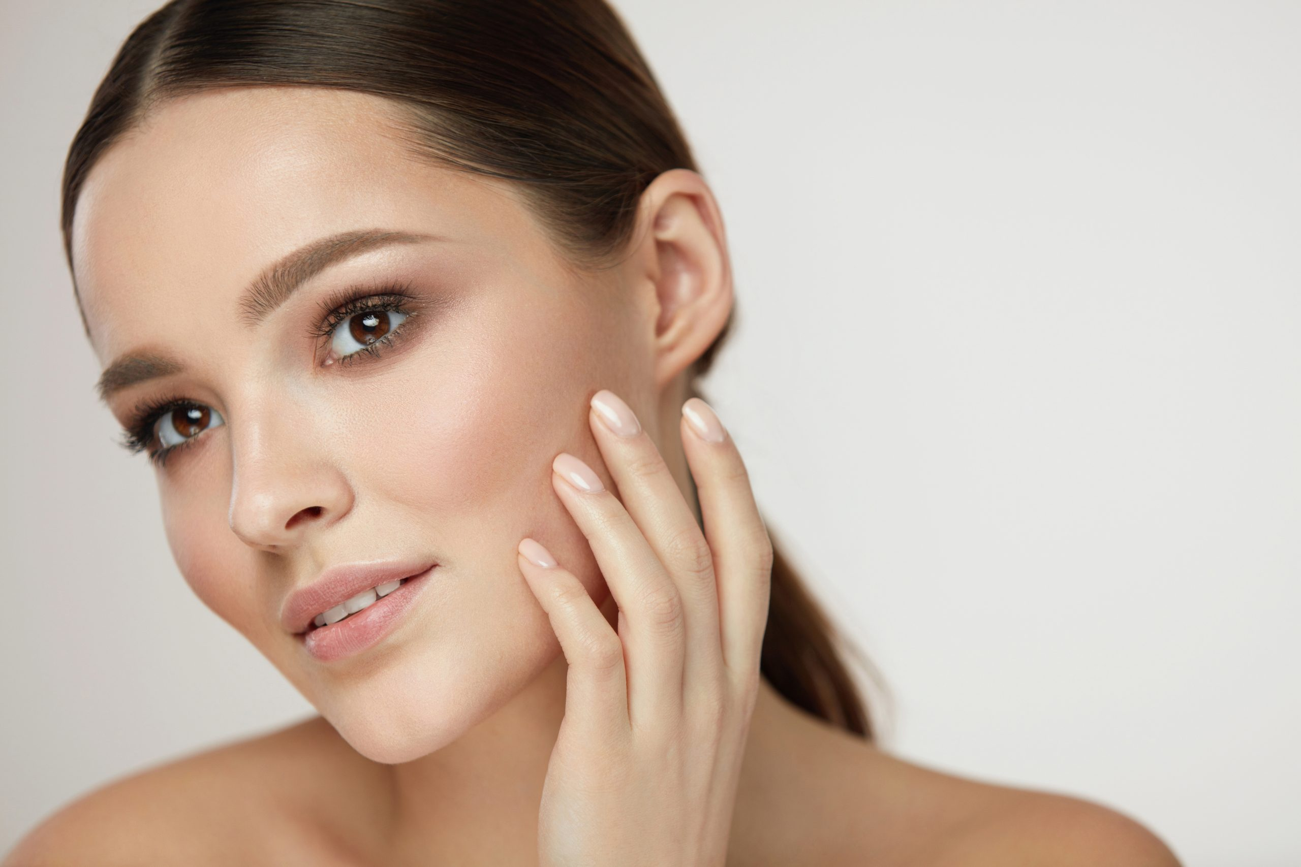 Woman with improved skin